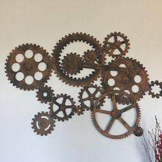 Gear Wall Decor vintage industrial gear mold / large 54vintageindustrial   the