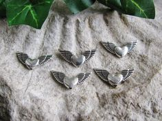 5 / 10 / 20 / 50 Flügel in silber 2,4cm, Metallperlen Perlen basteln Schutzengel