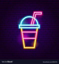 Drink neon sign vector image on VectorStock Wallpaper Iphone Neon, Emoji Wallpaper, Aesthetic Iphone Wallpaper, Hight Light, Led Logo, Neon Words, Neon Backgrounds, Neon Painting, Neon Design