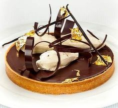 Pierrick Boyer's almond, coffee and chocolate tart.