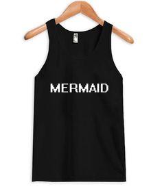 mermaid tanktop  #tanktop #top #tees #graphic shirt #funny shirt #tops #clothing