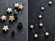Paint a tray with chalkboard paint. Then lay out star shaped cookies and draw chalk lines between them to form constellations!
