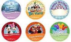 Make sure you get your FREE Disney Button marking anything you might be celebrating, including your first trip to Disney!