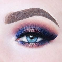 Blue with copper rose halo