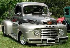 Mercury M 47 Pick up Truck, 1949 Classic Pickup Trucks, Old Pickup Trucks, Lifted Trucks, 4x4 Trucks, Diesel Trucks, Ford Diesel, Jeep Pickup, Lifted Ford, Pickup Camper