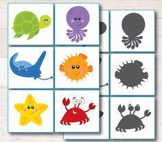 Shadow match from our ocean learning pack blog
