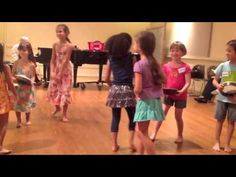 A Dalcroze Eurhythmics class with Anne Farber at the Lucy Moses School, NYC. Summer 2013.