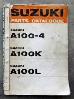 Honda cb125 owners workshop service repair manual cd125 cm125 benly suzuki a100 1973 workshop parts list catalog manual for owners service repair suzuki fandeluxe Image collections