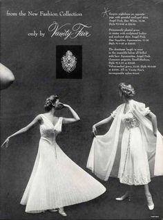 1950s Vanity Fair, nightgown, peignoir set