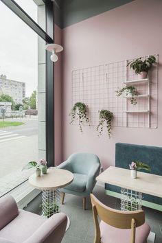 Luxury Home Decoration Ideas Bakery Shop Design, Coffee Shop Interior Design, Salon Interior Design, Coffee Shop Design, Restaurant Interior Design, Cafe Design, Bakery Shop Interior, Café Restaurant, Modern Restaurant