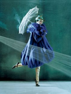 Dior in Vogue: Karlie Kloss in bubble coat by Tim Walker