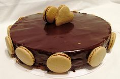 Macaron and cake: Čokoládový dort s makronkama
