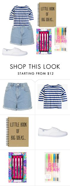 """casual look for this Thursday(journal for what books to read next instead of using Good Reads all the time and the notebook is on the go list)"" by shycoygirl65 on Polyvore featuring Topshop, J.Crew and Lilly Pulitzer"