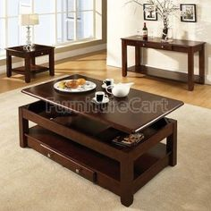 Farmhouse table plans & ideas find and save about dining room tables . See more ideas about Farmhouse kitchen plans, farmhouse table and DIY dining table Lift Up Coffee Table, Coffee And End Tables, Coffee Table With Storage, Coffee Table Design, Modern Farmhouse Table, Rustic Farmhouse Table, Diy Esstisch, Octagon Table, Diy Dining Table