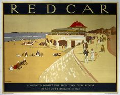 London & North Eastern Railway (LNER) poster advertising rail services to Redcar in Cleveland.17