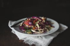 Cabbage with Almonds, Blood Orange & Ginger Vinaigrette + A Video