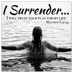 Lord I surrender... I will trust Your plan for my life.