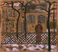Pierre Bonnard - Behind the Fence