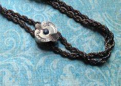 Antique Victorian Lorgnette Watch Chain with Paste by MiladyLinden