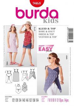 68f3ee4a35c3 9468 Kids Dress   Top Burda PatternSizes  7 to 12 yrs