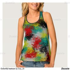 Colorful texture tank top