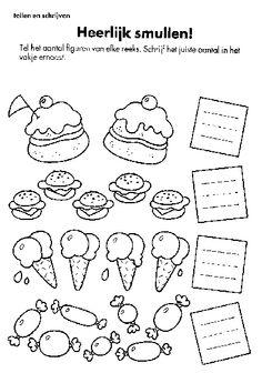 KleuterDigitaal - wbb eten tellen heerlijk smullen