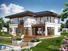Projekt domu - Willa Weronika 3 on Behance - Zobacz piękną willę autorstwa ARCHON+