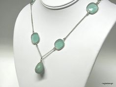 Sterling silver bezel set green chalcedony by SilverStonesConcepts, $55.00