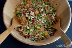 Copycat Whole Foods California quinoa salad-I would use wheat berries or brown rice instead.