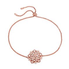 FF Bouquet Silver 925 Rose Gold Plated Ρυθμιζόμενο Βραχιόλι Rose Gold Plates, Plating, Gold Necklace, Bouquet, Silver, Jewelry, Jewellery Making, Jewerly, Jewelery