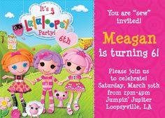 Customized Birthday Invitation  Lalaloopsy Birthday by andyneal331, $15.00