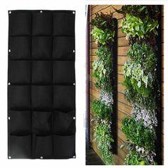 Green Vertical Garden Planter Wall-mounted Planting Flower Grow Bag 7 Pocket @*