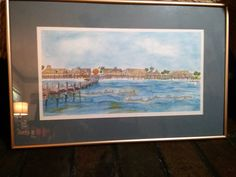 Water Color Painting Quietwater Beach Boardwalk Pensacola Beach Fla. Mary Vitek