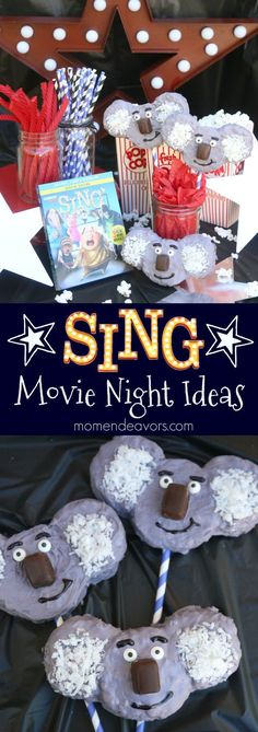 Buster Moon Koala Krispy Treats - perfect for a SING (Now on Blu-ray & DVD) movie night or SING party! #SingMovie #SingSquad #ad