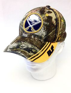 c8f64e61a95 Buffalo Sabres Zephyr NHL Official Fitted Camo Baseball Hat Cap Size M L