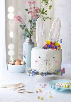 DIY food: une recette de gâteau en forme de lapin pour Pâques - Easter cake DIY recipe - Marie Claire Idées