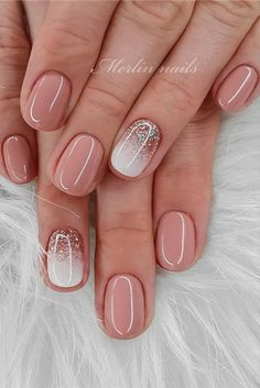 40 brand new designs for short nails not to be missed in spring and summer, ., 40 brand new short nail designs not to be missed in spring and summer 16 fantastic trendy nail art ideas for 2019 - recipes - # gorgeous # for Trendy Nail Art, Stylish Nails, New Nail Art, Short Nail Designs, Nail Art Designs, Shellac Nail Designs, Cute Nails, My Nails, Manicure For Short Nails