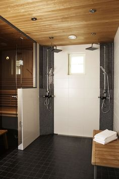 Very accessible roll-in shower.