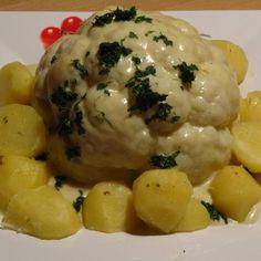 Rezept Blumenkohl mit Käsesauce von mousse-au-chocolat - Rezept der Kategorie Hauptgerichte mit Gemüse