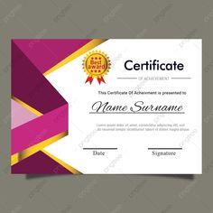 Certificate Of Recognition Template, Certificate Of Achievement Template, Certificate Design Template, Award Certificates, Certificate Background, Graduation Templates, Kids Awards, Document Printing, Carte De Visite