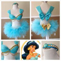 New Baby Girl Princess Costume Tutus Ideas Rave Costumes, Running Costumes, Disney Costumes, Halloween Costumes, Disfraz Wonder Woman, Disney Princess Half Marathon, Robes Tutu, Jasmine Costume, Diy Tutu