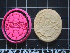 TMNT Turtle Shell Cookie Cutter Stamp Set BPA FREE Teenage Mutant Ninja Turtles   Unique Cookie Cutters