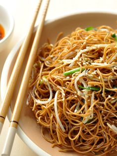 Soy Sauce Fried Noodles...aka Chow Mein