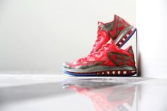0afe0c22d174 A Closer Look at the Nike LeBron 11 Low Metallic Zinc Hyper Punch-Ice