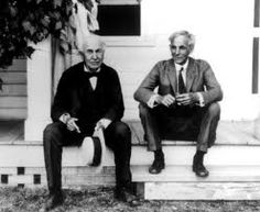 Thomas Edison and Henry Ford. Inventors, and friends. Edison's wife was the daughter of the founder of Chautauqua and Henry Ford met Clara at a Chautauqua Reading Circle run by John M. Hall of Bay View.