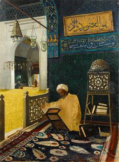 Osman Hamdi Bey : Reciting the Quran 1910  by RenfieldsGarden