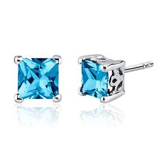 MSRP: $149.99    Our Price: 69.99    Savings: 80.00         Item Number: SE8020    Availability: Usually Ships in 5 Business Days         PRODUCT DESCRIPTION:    Lagoon Blue Hue with Brilliant Sparkle, Genuine Blue Topaz Sterling Silver Princess Stud Earrings are essential for any girl's jewelry collection. These gorgeous studs are fashioned into sleek sterling silver four-pronged mount. Fit is secure and comfortable with post-tension earrings backs.         FEATURES:    Crafted in Sterling…