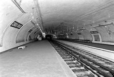 Croix-Rouge station, closed in 1939 and never reopened. It served as the first-ever terminal station of line Third Rail, Derelict Buildings, Paris Metro, Paris Images, Saint Martin, Paris Ville, Places In Europe, Metro Station, Forest Park