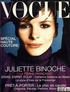 Juliette Binoche pour le numéro de septembre 1995 de Vogue Paris. Oh la la