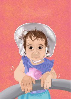 #portrait #girlportrait #digitalillustration #digital #digitalart #wacom #wacomtablet #wacomintuos Wacom Intuos, Digital Illustration, Disney Characters, Fictional Characters, Digital Art, Portrait, Disney Princess, Baby, Illustrations